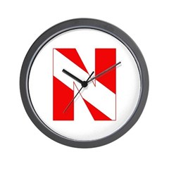 https://i3.cpcache.com/product/189272115/scuba_flag_letter_n_wall_clock.jpg?side=Front&height=240&width=240