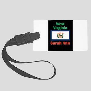 Sarah Ann West Virginia Luggage Tag