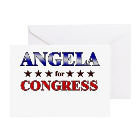 ANGELA for congress Greeting Card