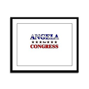 ANGELA for congress Framed Panel Print