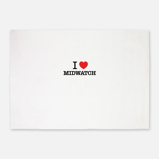 I Love MIDWATCH 5'x7'Area Rug