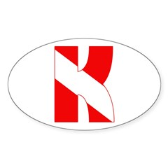 https://i3.cpcache.com/product/189275739/scuba_flag_letter_k_oval_decal.jpg?side=Front&color=White&height=240&width=240