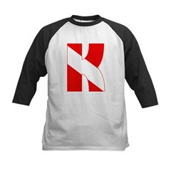 https://i3.cpcache.com/product/189275783/scuba_flag_letter_k_kids_baseball_jersey.jpg?side=Front&color=BlackWhite&height=240&width=240