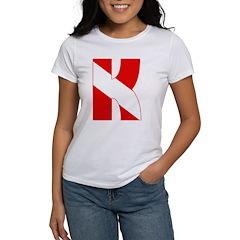 https://i3.cpcache.com/product/189275798/scuba_flag_letter_k_womens_tshirt.jpg?side=Front&color=White&height=240&width=240