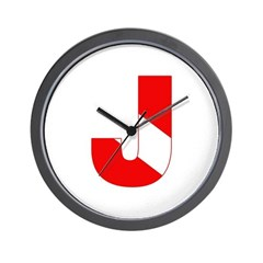 https://i3.cpcache.com/product/189276663/scuba_flag_letter_j_wall_clock.jpg?side=Front&height=240&width=240