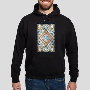 Abstract Blue Brown Fractal Kaleidoscop Sweatshirt
