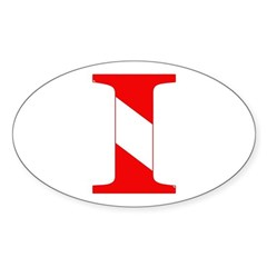 https://i3.cpcache.com/product/189277530/scuba_flag_letter_i_oval_decal.jpg?side=Front&color=White&height=240&width=240
