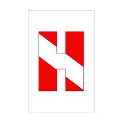 https://i3.cpcache.com/product/189278807/scuba_flag_letter_h_posters.jpg?side=Front&height=240&width=240