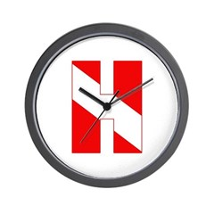 https://i3.cpcache.com/product/189278825/scuba_flag_letter_h_wall_clock.jpg?height=240&width=240