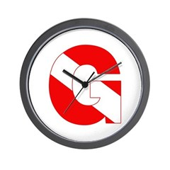 https://i3.cpcache.com/product/189279791/scuba_flag_letter_g_wall_clock.jpg?side=Front&height=240&width=240