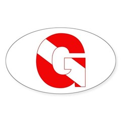 https://i3.cpcache.com/product/189279792/scuba_flag_letter_g_oval_decal.jpg?side=Front&color=White&height=240&width=240