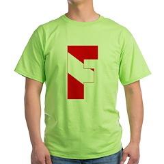 https://i3.cpcache.com/product/189280548/scuba_flag_letter_f_tshirt.jpg?color=Green&height=240&width=240