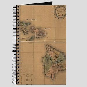 Vintage Map of Hawaii (1876) Journal