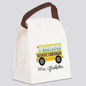 Personalized School Librarian Canvas Lunch Bag