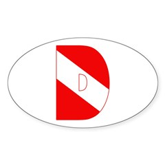 https://i3.cpcache.com/product/189282523/scuba_flag_letter_d_oval_decal.jpg?side=Front&color=White&height=240&width=240