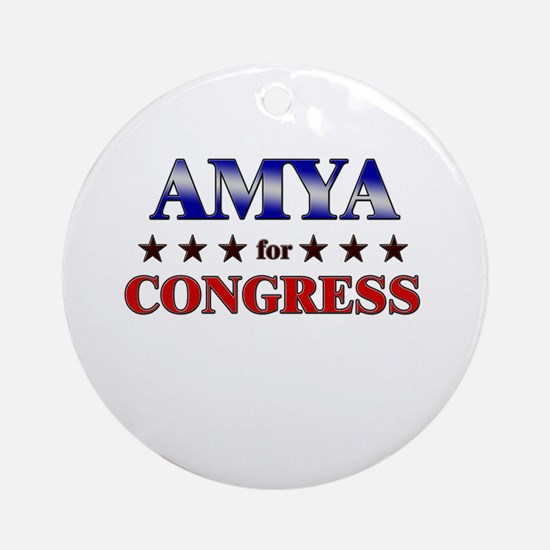 AMYA for congress Ornament (Round)