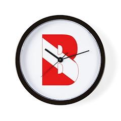 https://i3.cpcache.com/product/189284597/scuba_flag_letter_b_wall_clock.jpg?height=240&width=240