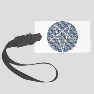 hologram pentagram Large Luggage Tag