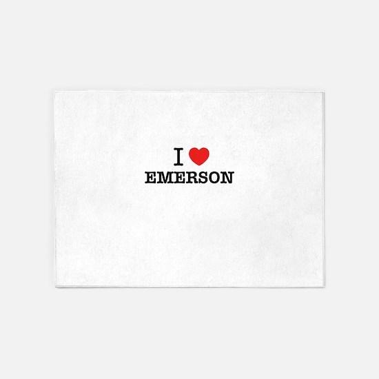 I Love EMERSON 5'x7'Area Rug