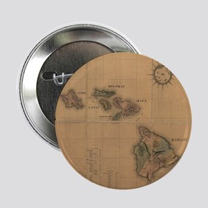 """Vintage Map of Hawaii (1876) 2.25"""" Button"""
