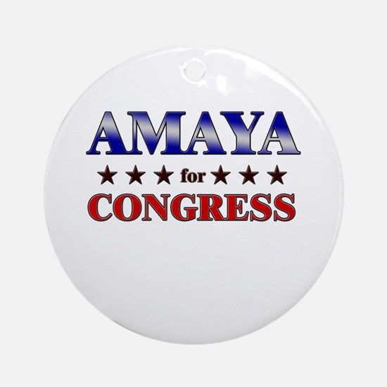 AMAYA for congress Ornament (Round)