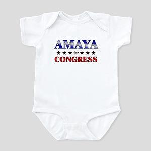 AMAYA for congress Infant Bodysuit