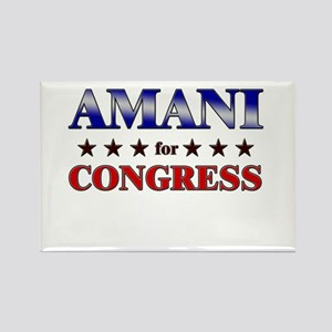 AMANI for congress Rectangle Magnet