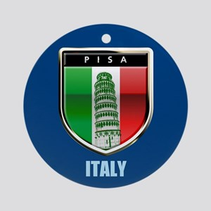 Customized Tower of Pisa, Italy Round Ornament