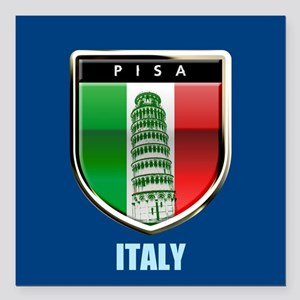 Customized Tower of Pisa, Italy Square Car Magnet