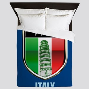 Customized Tower of Pisa, Italy Queen Duvet