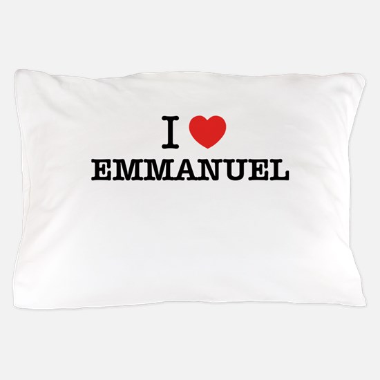 I Love EMMANUEL Pillow Case