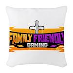 FFG Logo 2018 LARGE Woven Throw Pillow