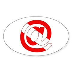 https://i3.cpcache.com/product/189300629/scuba_flag_at_sign_oval_decal.jpg?side=Front&color=White&height=240&width=240
