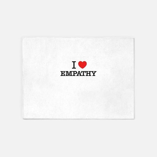 I Love EMPATHY 5'x7'Area Rug