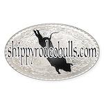 Shippy Rodeo Bulls Oval Sticker