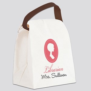 Personalized Librarian Gift Canvas Lunch Bag