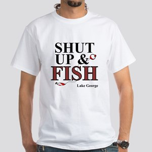 Shut Up & Fish White T-Shirt