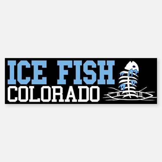Ice Fish Colorado Bumper Bumper Bumper Sticker