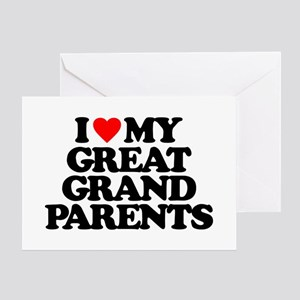 Great grandparents greeting cards cafepress i love my great grandparents greeting card m4hsunfo