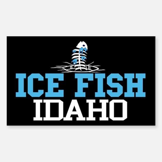 Ice Fish Idaho Rectangle Decal