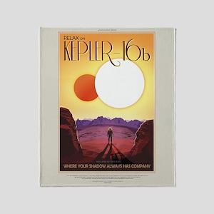 Retro Exoplanet Tour Kepler-16b Throw Blanket
