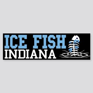 Ice Fish Indiana Bumper Sticker
