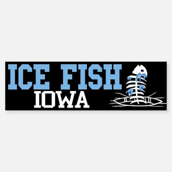 Ice Fish Iowa Bumper Bumper Bumper Sticker
