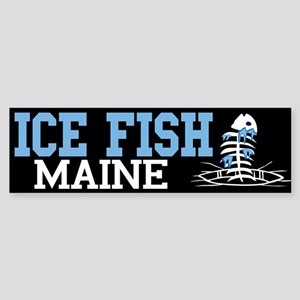 Ice Fish Maine Bumper Sticker