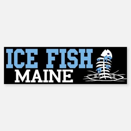 Ice Fish Maine Bumper Bumper Bumper Sticker