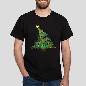 Merry Christmas Tree - Dark T-Shirt