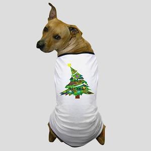 Merry Christmas Tree - Dog T-Shirt