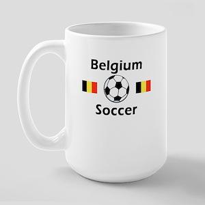 Belgium Soccer Large Mug