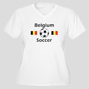 Belgium Soccer Women's Plus Size V-Neck T-Shirt