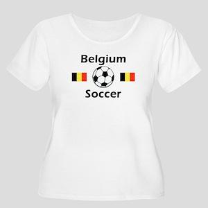Belgium Soccer Women's Plus Size Scoop Neck T-Shir